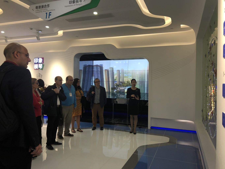 11月7日考察團到訪橫琴新區展覽廳