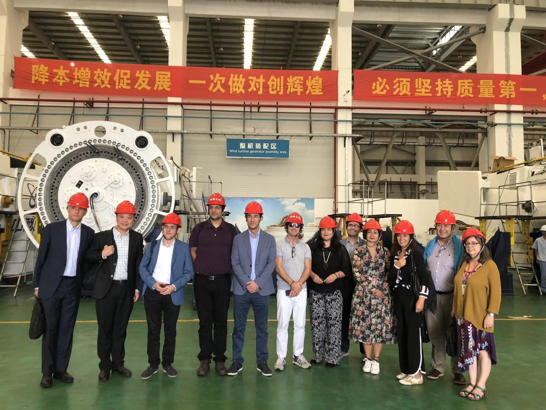 11月8日考察團到訪明陽風電(國際)有限公司的機器製造廠房